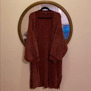 Mauve Lulus long sweater